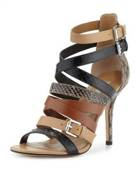 Michael Kors Cecilia Mixed Media Strappy Sandal - Lyst