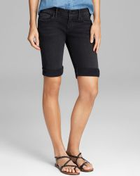 True Religion Shorts Savannah Cuffed in Binjai Black - Lyst