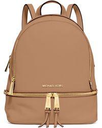 MICHAEL Michael Kors Rhea Small Zip Backpack - Lyst