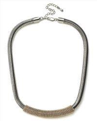 Jaeger - Tubular Textured Necklace - Lyst