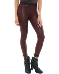 David Lerner Barlow Coated Lizard Leggings - Lyst