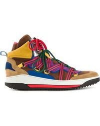 DSquared2 Multicolor Hitop Sneakers - Lyst