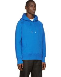 Christopher Kane Blue Fleece Classic Hoodie - Lyst