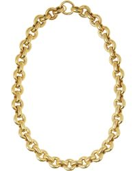 Olivia Collings - 1860S Gold-Plated Necklace - Lyst