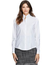 Brooks Brothers Non-iron Tailored Fit Ruffle Collar Dress Shirt - Lyst