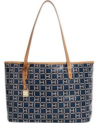 Tommy Hilfiger Coated Canvas Monogram Small Shopper - Lyst