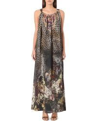 Camilla Silk Drawstring Maxi Dress The Lover - Lyst