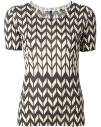 Woolrich Zig Zag Pattern T-Shirt - Lyst