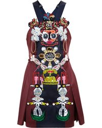 Mary Katrantzou Clocktopia Embellished Dress - Lyst