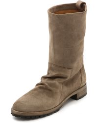 Coclico Shoes Odo Lug Sole Suede Boots Flint - Lyst