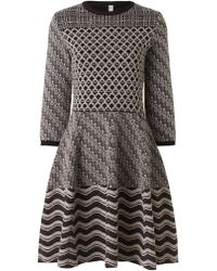 Antonio Marras Multi Intarsia Scalloped Dress - Lyst