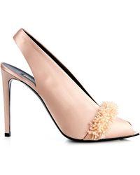 Balenciaga All Time Satin Sandals - Lyst