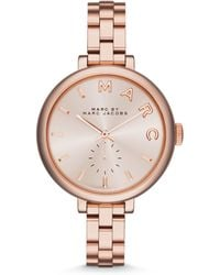 Marc By Marc Jacobs Sally Rose Goldtone Ip Stainless Steel Bracelet Watch - Lyst