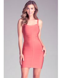 Bebe Basketweave Bodycon Dress - Lyst