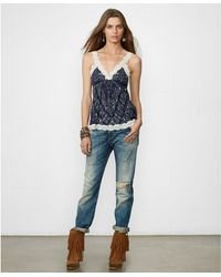 Denim & Supply Ralph Lauren Lacetrim Bandanaprint Camisole - Lyst