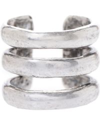 Jill Golden Triple Band Ring - Lyst