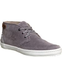 Lacoste Clavel Perforated Suede Trainers - For Men - Lyst
