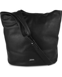 Jean Paul Gaultier Cabas Leather Tote Black - Lyst