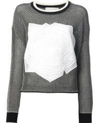 Stella McCartney Floral Embroidered Sweater - Lyst