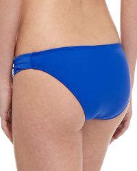 Shoshanna Solid Twistside Swim Bottom - Lyst