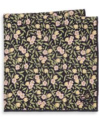 Hook + Albert | Floral Cotton Pocket Square | Lyst
