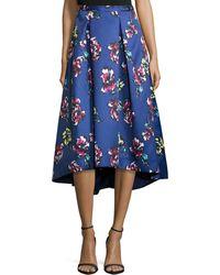 Phoebe - Midi Floral-print High-low Skirt - Lyst