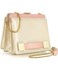 Linda Farrow Anniversary Ayers And Leather Clutch - Lyst
