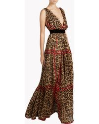 DSquared² | Leopard Check Long Dress | Lyst