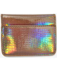 Nasty Gal - Nila Anthony Hold You So Textured Card Holder - Hologram - Lyst