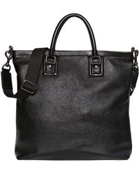 Dolce & Gabbana Zipped Grained Leather Shopping Bag - Lyst
