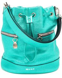 House of Holland - Metallic Leather Bucket Bag - Lyst