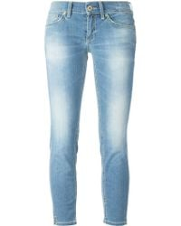 Dondup Skinny Cropped Mid-Rise Stretch-Denim Jeans - Lyst