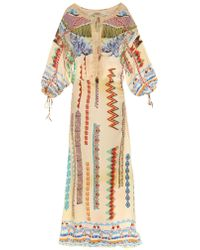 Etro Abstract-Print Maxi Dress - Lyst