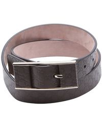 Gucci Grey Leather Logo Embossed Buckle Belt gray - Lyst
