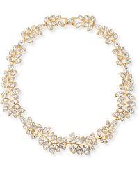 Kenneth Jay Lane - Crystal Leaf Collar Necklace - Lyst