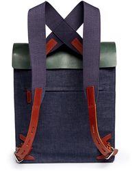 Seventy Eight Percent - Leather Denim Backpack - Lyst