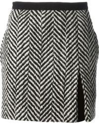 Emanuel Ungaro Chevron Pattern Skirt - Lyst