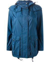 Burberry Brit Hooded Windbreaker Jacket - Lyst