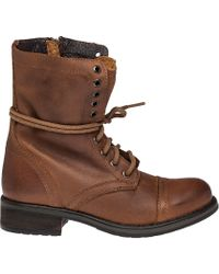 Steve Madden | Troopa 2.0 Leather Combat Boots | Lyst