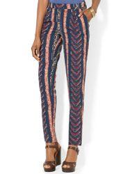 Ralph Lauren Lauren Straight Printed Pants - Lyst