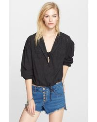 Free People 'Stars Align' Button Front Top - Lyst