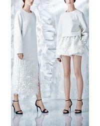 Ruban - Ivory Embellished Cashmere Dress - Lyst