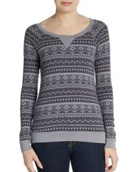 Splendid Printed Raglan Thermal Top - Lyst