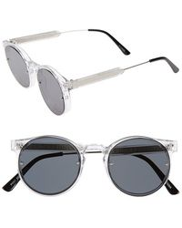 Spitfire | 'post Punk' 52mm Round Retro Sunglasses - Clear/ Black | Lyst