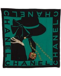 Chanel Pre-Owned Scarf - Lyst