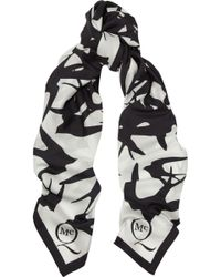 McQ by Alexander McQueen Printed Silk Crepe De Chine Scarf - Lyst