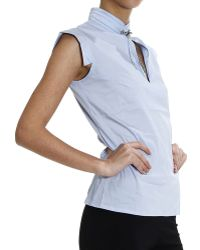 Cesare Paciotti | Shirt Sleeveless With Jewel | Lyst
