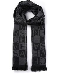 Versace Checked Scarf - Lyst