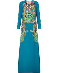 Mary Katrantzou Sentinel Gown Peacock Turquoise - Lyst