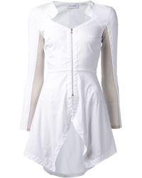 Yigal Azrouel Zipped Asymmetric Shirt - Lyst